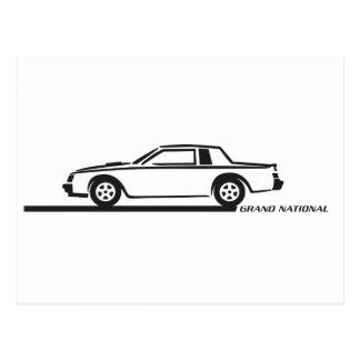 Carte Postale Voiture noire de Buick Grand National