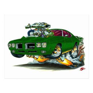 Carte Postale Voiture verte de 1970 GTO