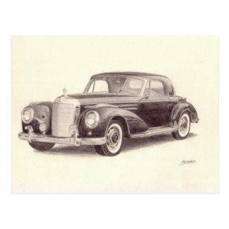 Carte Postale Voiture vintage : Benz 300S de Mercedes