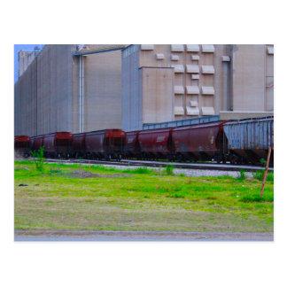 Carte Postale Voitures de rail