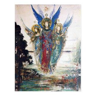 Carte Postale Voix de la soirée par Gustave Moreau
