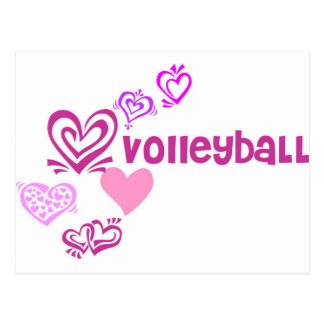 Carte Postale Volleyball d'amour