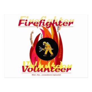 Carte Postale Volontaire de sapeur-pompier