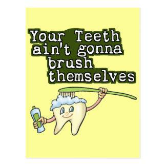 Carte Postale Vos dents Aint allant se balayer
