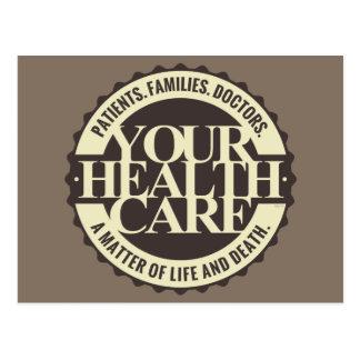 Carte Postale Vos soins de santé