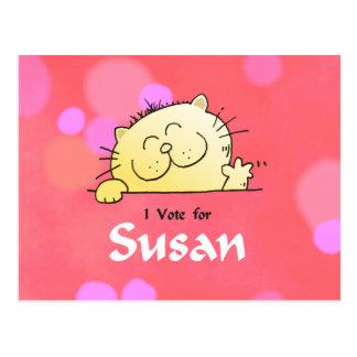Carte Postale Vote de Kitty pour le cadeau d'amusement de Susan