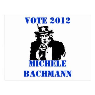 CARTE POSTALE VOTE MICHELE BACHMANN 2012