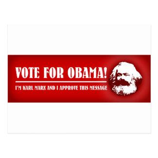 Carte Postale Vote pour Obama !