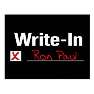 CARTE POSTALE VOTE RON PAUL