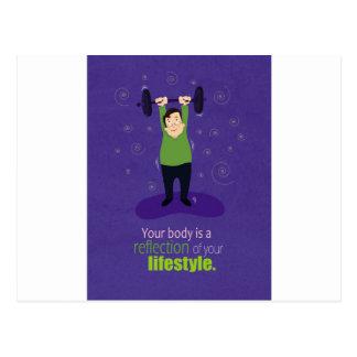 Carte Postale Votre corps est une réflexion de votre mode de vie