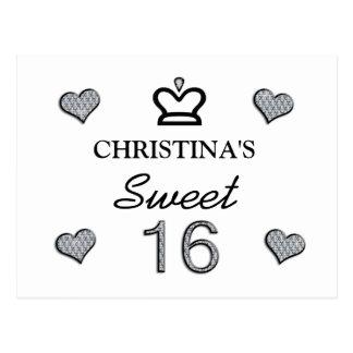 Carte Postale Votre sweet sixteen nommé dans les diamants