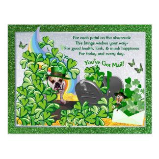 Carte Postale Vous de St Patty de Maddie de bouledogue avez la