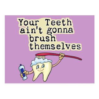 Carte Postale Vous dents Aint allant se balayer