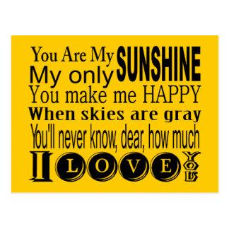 Carte Postale Vous êtes mon habillement et cadeaux de soleil
