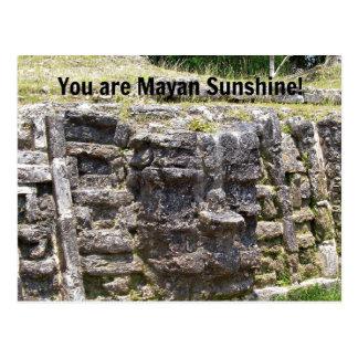 Carte Postale Vous êtes soleil maya !