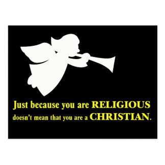Carte Postale Vous pouvez être religieux mais vous n'êtes pas un
