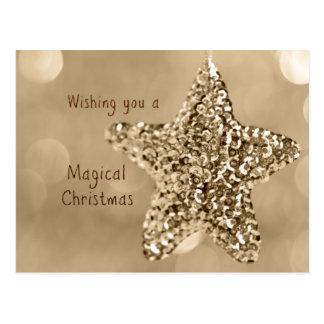 Carte Postale Vous souhaitant Noël magique