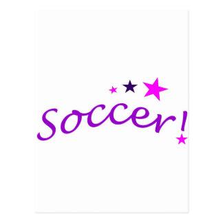 Carte Postale Voûte du football avec des étoiles
