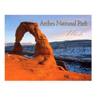 Carte Postale Voûte sensible, voûtes parc national, Utah