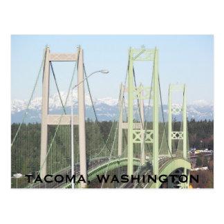 Carte Postale Voyage de ponts d'étroits de Tacoma