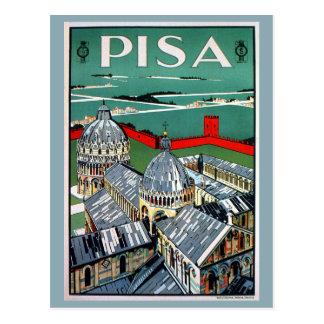 Carte Postale Voyage italien de Pise des années 1920 vintages
