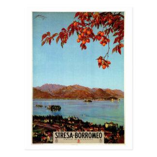 Carte Postale Voyage italien vintage de Maggiore Stresa de lac