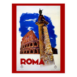 Carte Postale Voyage italien vintage de Roma Rome