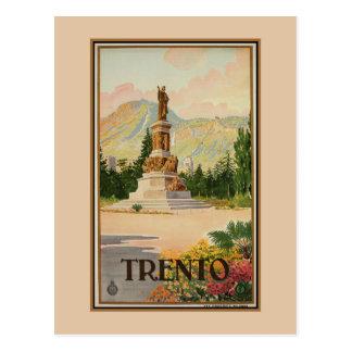 Carte Postale Voyage italien vintage de Trento Trent