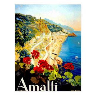 Carte Postale Voyage vintage d'Amalfi Italie l'Europe