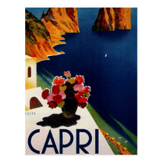 Carte Postale Voyage vintage de Capri Italie