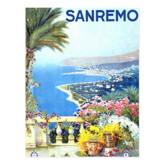Carte Postale Voyage vintage de San Remo Italie l'Europe