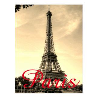 Carte Postale Voyage vintage de ville d'amour de Paris de Tour