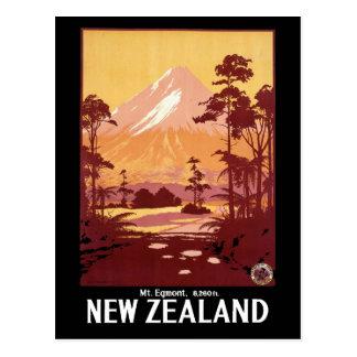 Carte Postale Voyage vintage d'Egmont Nouvelle Zélande de bâti