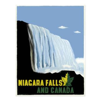 Carte Postale Voyage vintage du Canada et des chutes du Niagara