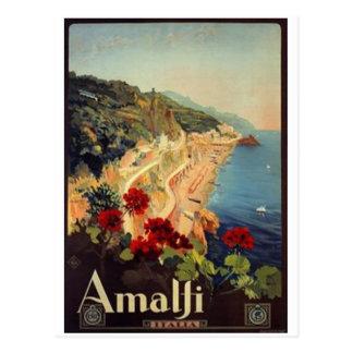 Carte Postale Voyage vintage Italie, Amalfi -