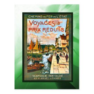 Carte Postale Voyages de remise vers la Bretagne et la Normandie