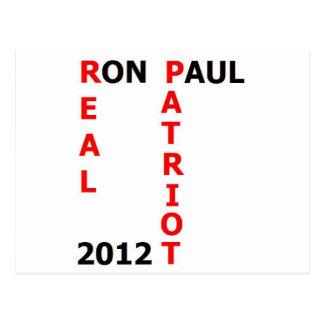 Carte Postale Vrai patriote 2012 de Ron Paul