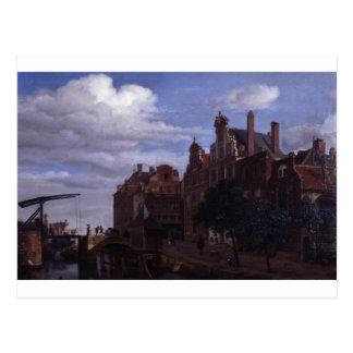 Carte Postale Vue à Amsterdam par Adriaen van de Velde