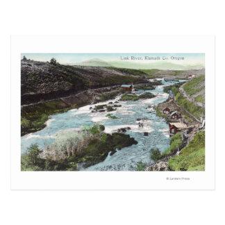 Carte Postale Vue aérienne de comté de RiverKlamath de lien, OU