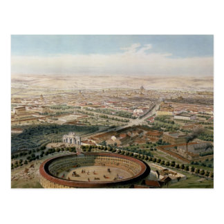 Carte Postale Vue aérienne de Madrid de la plaza de Toros