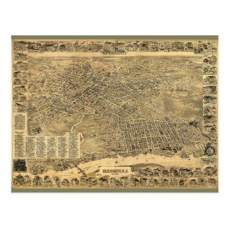 Carte Postale Vue aérienne d'Elizabeth, New Jersey (1898)