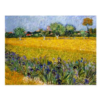 Carte Postale Vue d'Arles avec la peinture de Vincent van Gogh