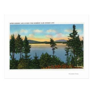 Carte Postale Vue de club de Wawbeek de lac supérieur Saranac