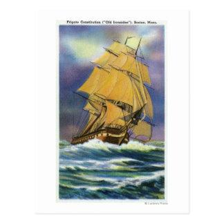 Carte Postale Vue de constitution de frégate, vieil Ironsides