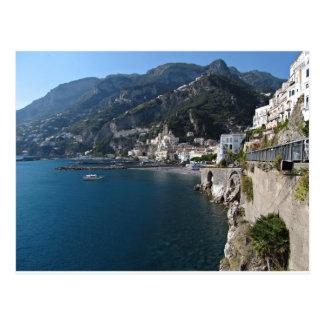 Carte Postale Vue de côte d'Amalfi