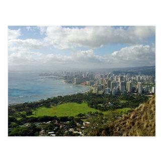 Carte Postale Vue de Diamondhead de Waikiki