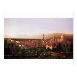 Carte Postale Vue de Florence de San Miniato par Thomas Cole