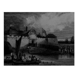 Carte Postale Vue de fort de Tilbury, gravée par H. Adhard