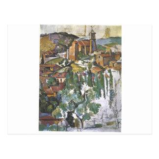 Carte Postale Vue de Gardanne par Paul Cezanne