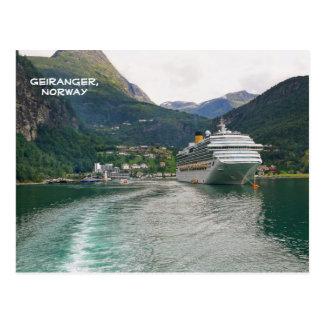 Carte Postale Vue de Geiranger, Geirangerfjord, Norvège